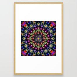 PSYCHEDELIC EARTH MANDALA Framed Art Print