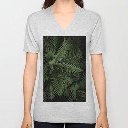 Tropical leaves 02 Unisex V-Neck