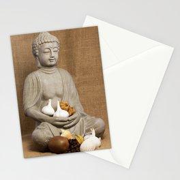 Kivi coffee beans garlic Physalis Snail Shell Buddha Stationery Cards