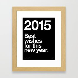 2015 Framed Art Print