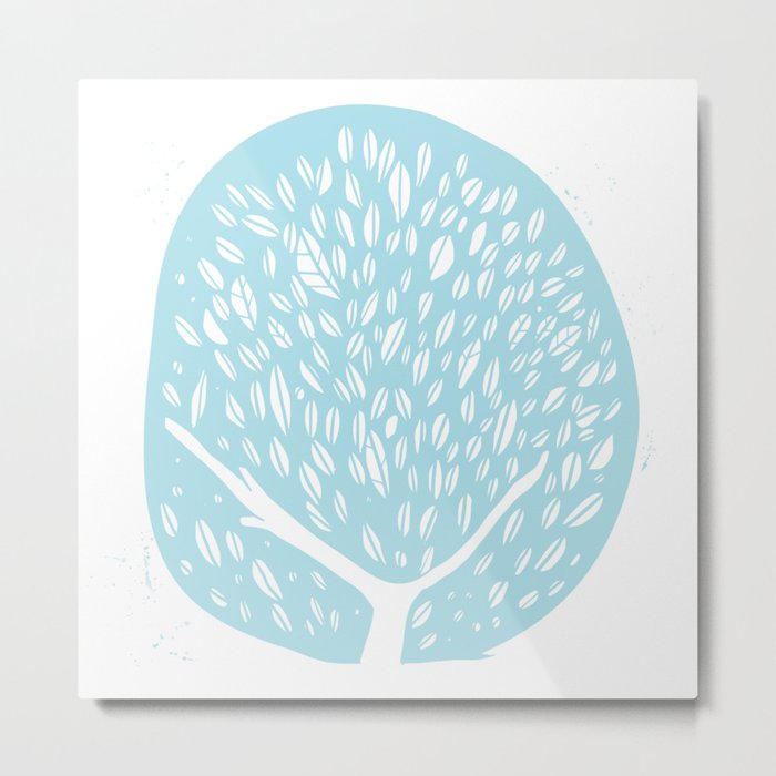 Tree of life - baby blue Metal Print