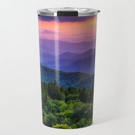Sundown from Cowee Mountains Landscape Travel Mug
