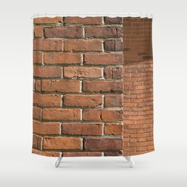 Exposed Brick Shower Curtain