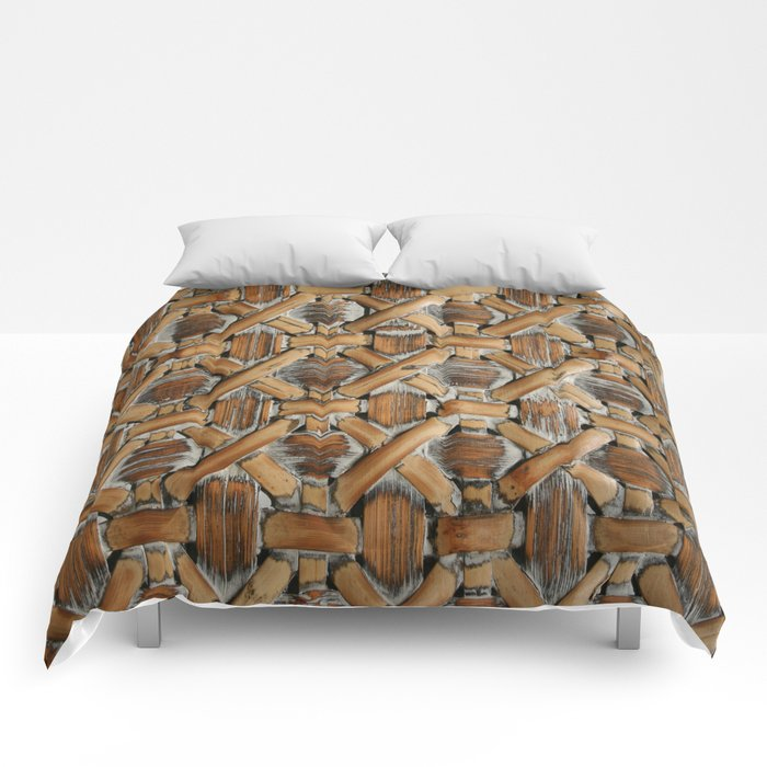 Whitewashed Wicker Comforters