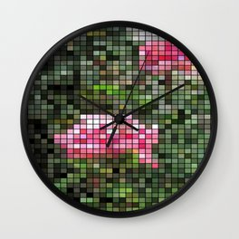 Pink Roses in Anzures 5  Mosaic Wall Clock