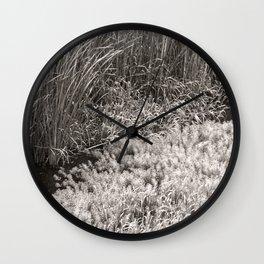 the river, Fukuoka, Japan june 2018 Wall Clock
