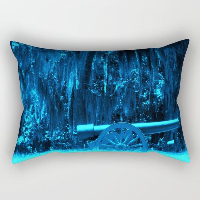 Blue Moss Rectangular Pillow
