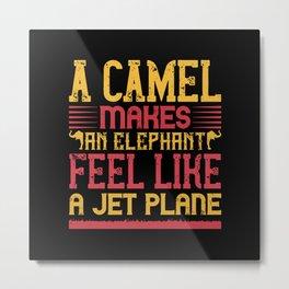 Elephant Quote - 02 Metal Print