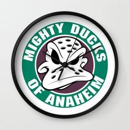 mighty ducks of anaheim Wall Clock