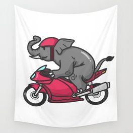 motorcycle, motorcycle driving Wall Tapestry