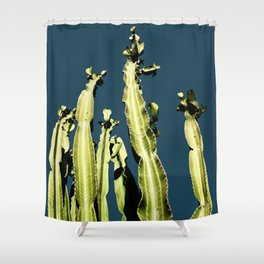 Cactus - blue Shower Curtain