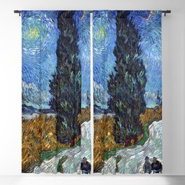 Vincent van Gogh - Road with Cypress and Star Blackout Curtain