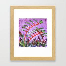 Rustic Kangaroo Paw Framed Art Print