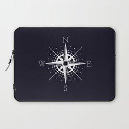 Navy Nautical - White Compass Laptop Sleeve