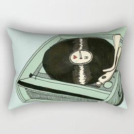 Record Player Rectangular Pillow