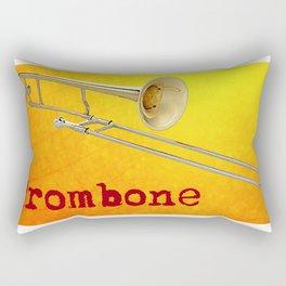 Slide Trombone on Sunshine Gold Rectangular Pillow