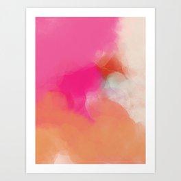 dreamy days in pink peach aquarell Art Print