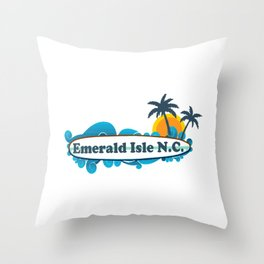 Emerald Isle - North Carolina. Throw Pillow