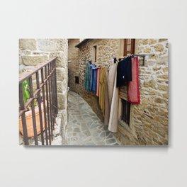 Laundered Alleyways Metal Print