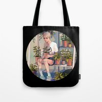 plants Tote Bags featuring plants by KEL H