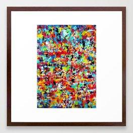 sans toucher presque Framed Art Print
