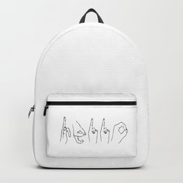 Hand Sign Hello Backpack