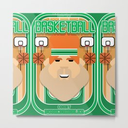 Basketball Green - Court Dunkdribbler - Josh version Metal Print