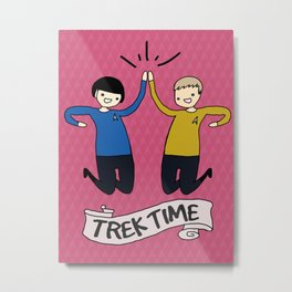 Trek Time Metal Print