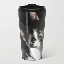 Gypsy Da Fleuky Cat and the Black Starry Night Travel Mug