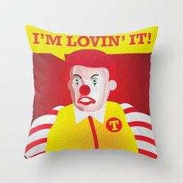 Mc Donald Trump Throw Pillow