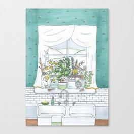 Kitchen Window Canvas Print