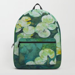 Tranquil lily pond Backpack