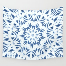 Snowflake Denim & White Wall Tapestry