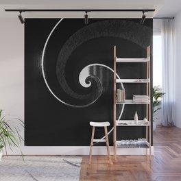 crayon black wave Wall Mural