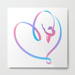 Rhythm of a Gymnast's Heart Metal Print