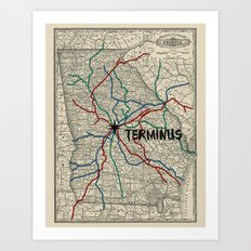 Terminus Map Art Print