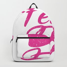 Fear The Bow Funny Cheerleading Tie Squad Backpack