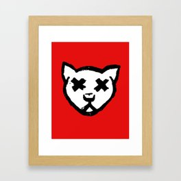 Dead Cat Icon Framed Art Print