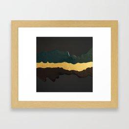 Gold River Framed Art Print