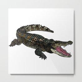 American Alligator Metal Print