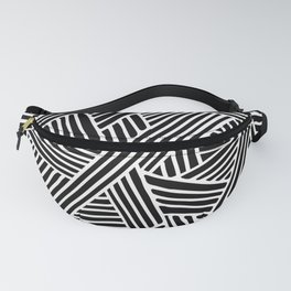Abstract black & white Lines and Triangles Pattern - Mix and Match with Simplicity of Life Fanny Pack