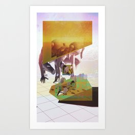 Synthetic Harvest Art Print