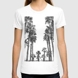 Palm Tree Days {2 of 2} Tropical Black and White Cali Art Print T-shirt