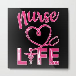 Nurse Doctor Hospital Nursing Medicine Love Gift Metal Print