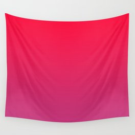 Cerise Pink Gradient Wall Tapestry