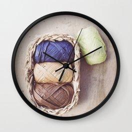 Raffia Wall Clock