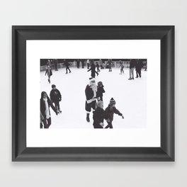 Skating Santa Framed Art Print