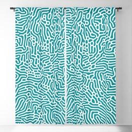 Turquoise Organic Pattern Blackout Curtain