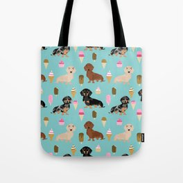 dachshund ice cream multi coat doxie dog breed cute pattern gifts Tote Bag