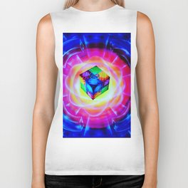 Abstract in perfection Biker Tank